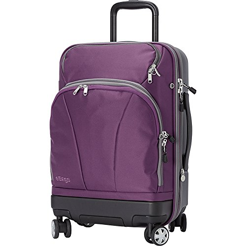 eBags TLS Hybrid (Hardside/Softside) Spinner Expandable Luggage - 22-inch - Carry-On - (Eggplant) ()