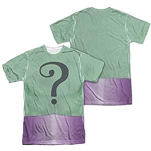 Batman Men's Riddler Uniform Sublimation T-shirt White at Gotham City Store