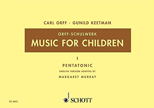 Music For Children Vol1 Pentatonic Voice Recorder & Orff Perc
