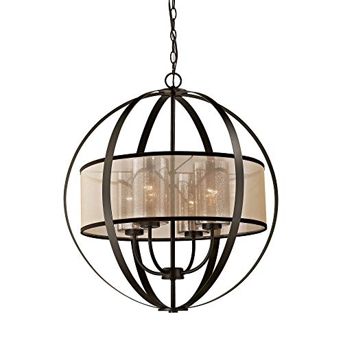 -LED Diffusion 4 Light LED Oil Rubbed Bronze Chandelier ()