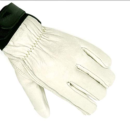 Aida Bz Leather Low Temperature Gloves Wear-Resistant Anti-Freeze Thickening Gloves Liquid Nitrogen LNG Filling Station Protection,White