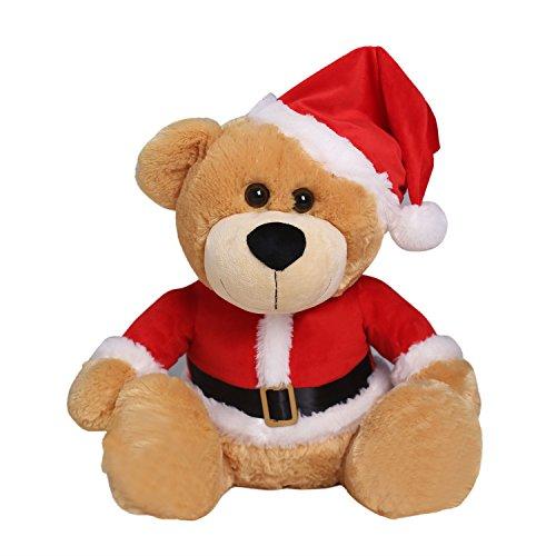 Teddy Bear Stuffed Animal Christmas Teddy Bear Wearing Ca...