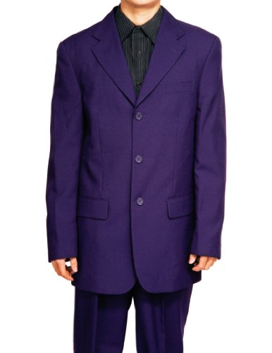 New Men's 3 Button Single Breasted Purple Dress Suit