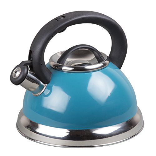 Creative Home 77068 with Aluminum Capsulated Bottom Color Alexa 3 Qt. Tea Kettle, Aqua Aluminum Kettle