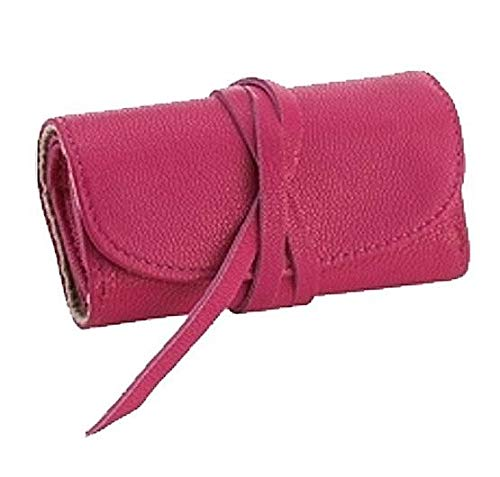Brights Pink Fine Leather Jewel Roll by Graphic ImageTM -