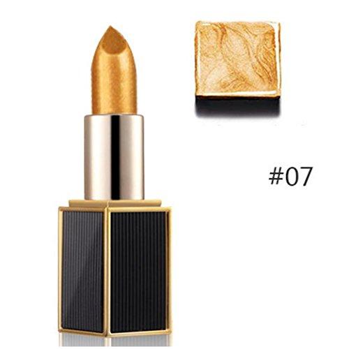 Lipstick Odeer Mermaid Shimmer Gold Lipstick Glitter Pigment Metallic Lip Gloss Long Lasting Eyeshadow Cosmetic Lip Makeup Tool (ღ : G)