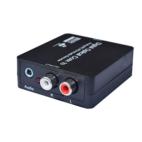 Cailiaoxindong Digital Optical Coax Toslink to Analog R/L RCA Audio Decoder Converter upports Dolby Digital and DTS decoding