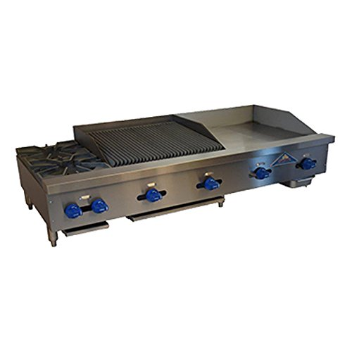 (Comstock Castle FHP60-24-2RB Gas Hotplate / Griddle / Radiant Charbroiler Combo Unit)