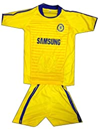 Kids Chelsea Jersey Shorts Soccer Football Yellow
