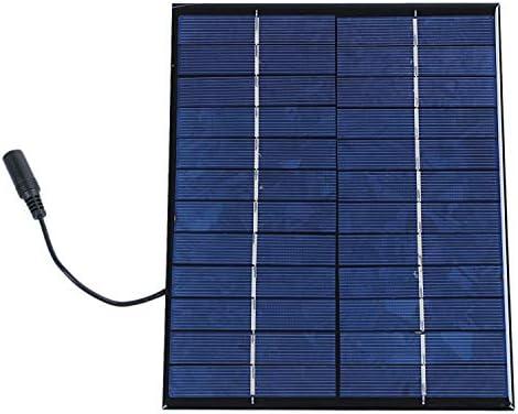 Gaetooely 12V 5,2 Watt Solar Panel Polykristalline Solarzellen Silizium Epoxy Solar DIY Modul System Ladegeraet + -Ausgang