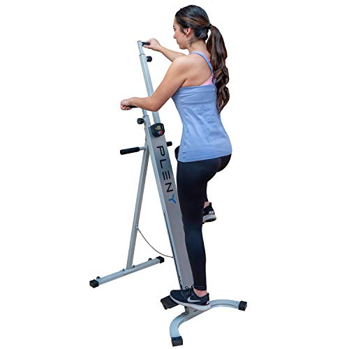 PLENY Foldable Vertical Climber with Count, Time Display, Climbing Stepper Machine for Home Gym