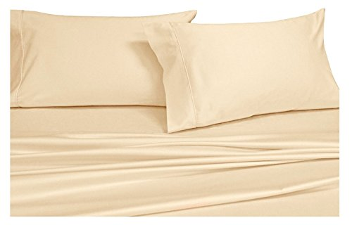 Olympic Queen Bedding (Royal Hotel's Solid Ivory 550-Thread-Count 4pc Olympic Queen Bed Sheet Set 100-Percent Combed Cotton, Sateen Solid, Deep Pocket)