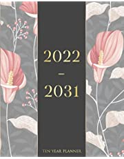 2022-2031 Ten Year Planner: Ten Year Monthly Planner 120 Months Calendar Agenda Schedule Organizer And Appointment Notebook With Federal Holidays And Inspirational Quotes (Black Cover)