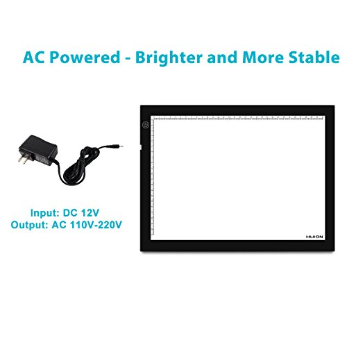 Huion A4 Tracing Light Box Super Bright AC Powered with Adjustable Light Intensity (14.17-by-10.63 Inch)