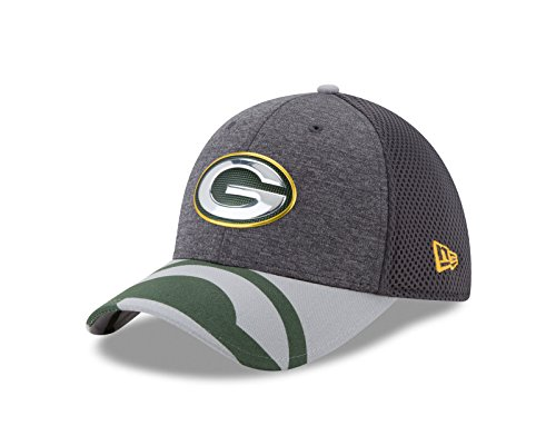 NFL Green Bay Packers 2017 Draft Spotlight 39THIRTY Stretch Fit Cap, Medium/Large, Graphite ()