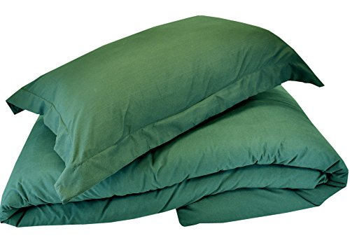 (Mezzati Luxury Duvet Cover Full - Soft and Comfortable 1800 Prestige Collection - Brushed Microfiber Bedding (Emerald Green, Queen Size))