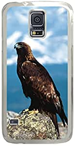 Majestic Perch Golden Eagle Animal Samsung Galaxy S5 Case with Transparent Skin