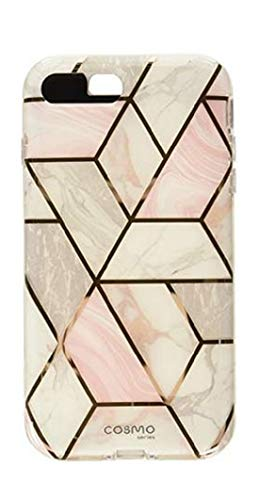 i-Blason Cosmo Glitter Clear Bumper Case for iPhone 8 Plus/iPhone 7 Plus, Marble (Heavy Multi Glitter)