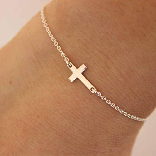 YASEF Bracelet Fashion Gold Chain Simple Cross Bracelet Bracelet Exquisite Jewelry for Women