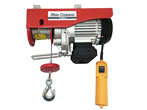 1100 Lb Overhead Electric Hoist Crane Lift Garage Winch with remote cable control 110V - BLUECHAIN Series - Five Oceans BC-4016