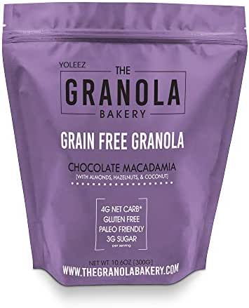 Granola Bakery - Keto Chocolate Paleo Granola Cereal, 4g Net Carb, 10.6Oz Bag - Healthy Low Carb Fat Bomb Snack, Gluten Free, Grain Free, Organic Natural Ingredients
