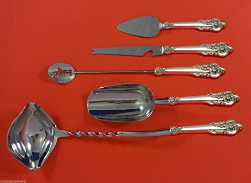 Wallace Grand Baroque Sterling Silver - Grande Baroque by Wallace Sterling Silver Cocktail Party Bar Set 5pc Custom Made