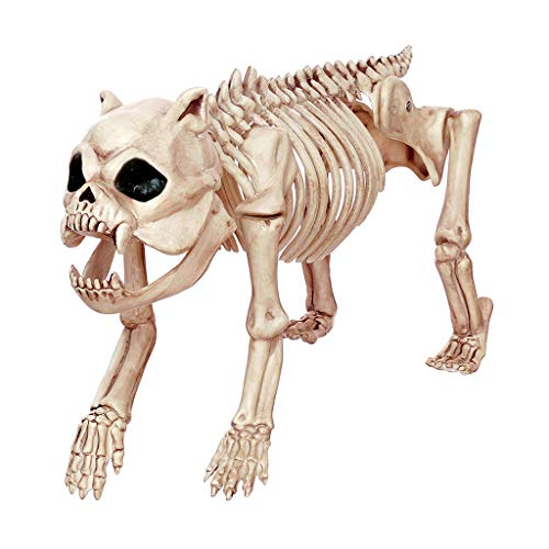 HLJ Halloween Horror Props Simulation Dog Skeleton Model The Haunted House Bar Props