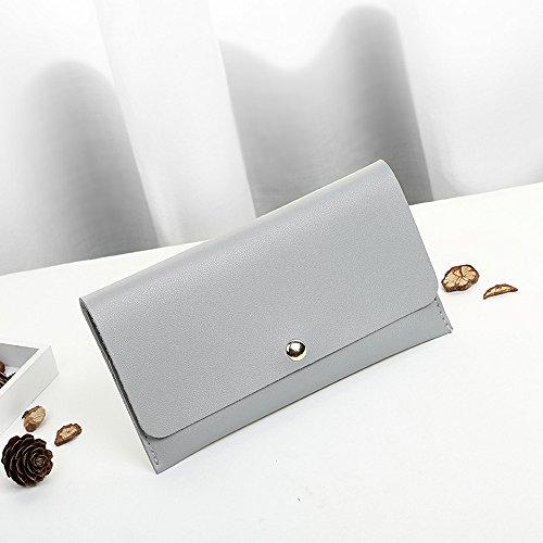 Purse Wallet Wallet Women Girls ZOMUSA Clearance Messenger Bag Gray Bag Lady Long Women Elegant Clutch Zip vwHnxqxC