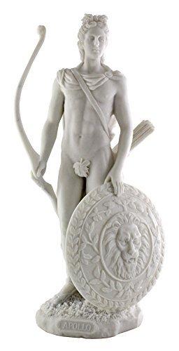 12 Inch Apollo Marble Finish Statue Figurine - The Sun God, (Marble God Statue)