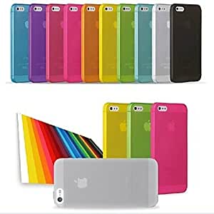 ZL PP Ultra Thin 0.01 inch/0.3 mm Soft Case for iPhone 5/5S (Assorted Colors) , Black