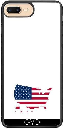 Coque Silicone pour Iphone 7 Plus / 8 Plus - Drapeau Des Etats Unis by Grab My Art