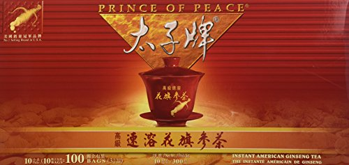 (Prince of Peace Instant American Ginseng Tea 100 Tea)