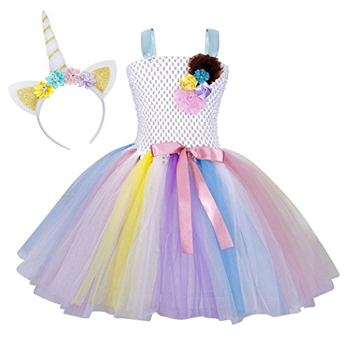 Cotrio Big Girls Unicorn Tutu Dress for Birthday