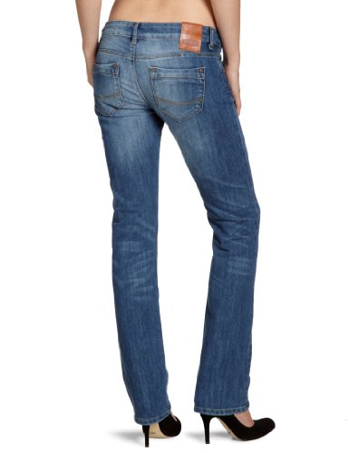 Cross Jean Used Bleu Jeans Blue Mid Blau Femme n8grw17q68
