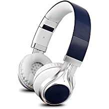 YHhao Over-Ear Headphones, On-Ear Headsets Noise Cancelling Foldable Headphones with Mic and 3.5mm Detachable Cord for iPhone, iPad, Android Smartphones, PC, Computer, Laptop, Mac, Tablet - Deep Blue