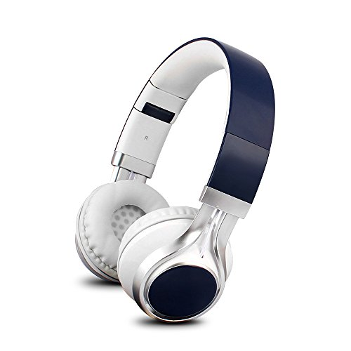 YHhao Over-Ear Headphones On-Ear Headsets Noise Cancelling Foldable Headphones with Mic and 3.5mm Detachable Cord for iPhone, iPad, Android Smartphones, PC, Computer, (Deep Blue01)