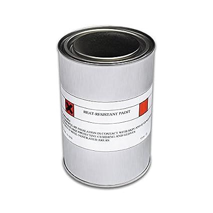 1L negro mate resistente al calor pincel de pintar (resistente al calor hasta 800 C