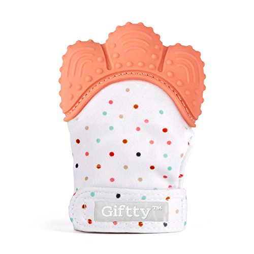 Baby Teething Mitten by Giftty, Self Soothing Teether Mitt &