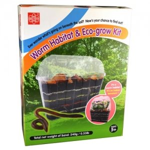 S.T.E.A.M. Line Toys Elenco Edu-Toys Edu-Science Worm Habitat and Eco-grow Kit
