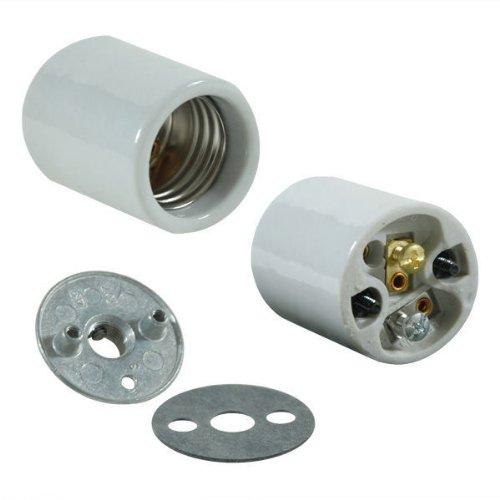Medium Base Light Socket - Porcelain - 1/8 IP - PLT D74 Medium Base Light Socket