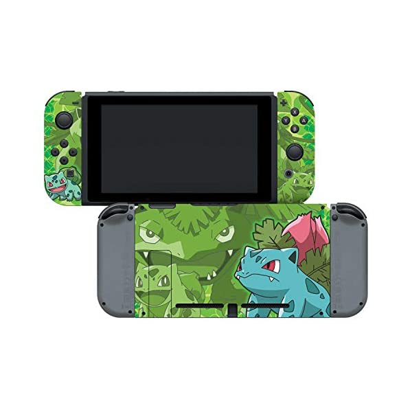 Controller Gear Nintendo Switch Skin & Screen Protector Set - Pokemon - Bulbasaur Evolutions Set 1 - Nintendo Switch 6