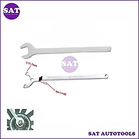 Amazon.com: 2PCS Mercedes Benz Fan Clutch Wrench Water Pump Holder Tool: Everything Else