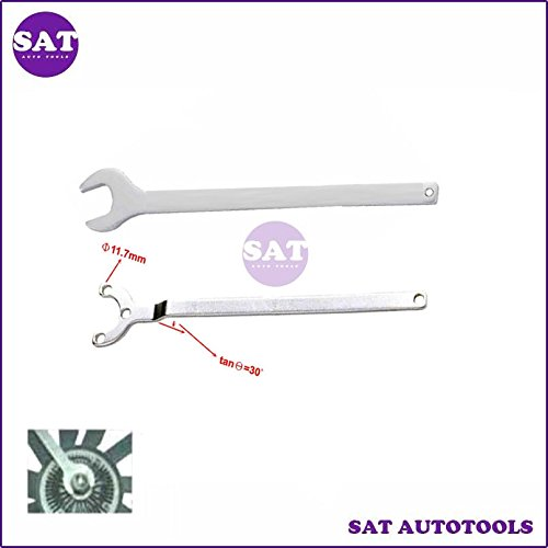 (2PCS Mercedes Benz Fan Clutch Wrench Water Pump Holder Tool)