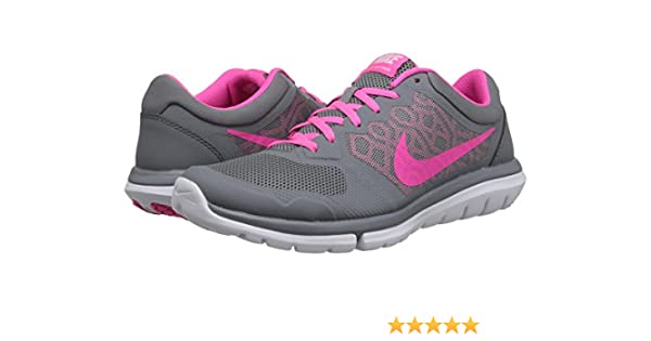 Nike Flex 2015 Run Women Laufschuhe Cool Grey-Pink Pow-White - 36 ...