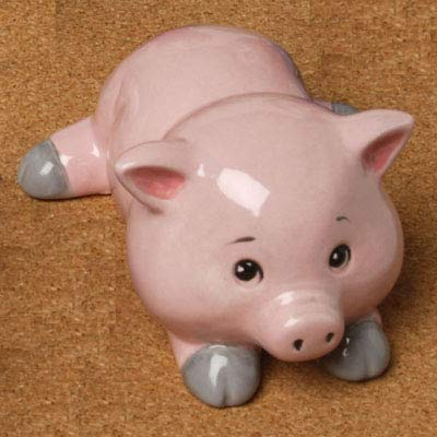 Unfinished Ceramic Bisque Creative Hobbies Tiny Tot Pig with How to Paint Your Own Pottery Booklet Case of 6