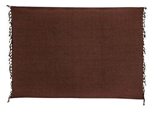 Sarong Pareo Dhoti Lunghi ca. 170cm x 110cm Braun Einfarbig Handgefertigt
