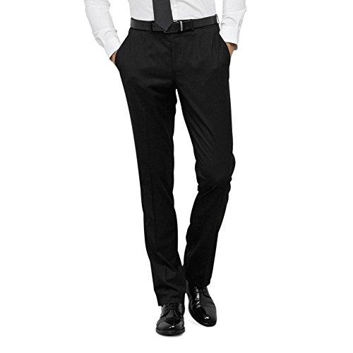 Reaktion Kenneth Cole Kritstreck Kostym Byxa - Mens Svart
