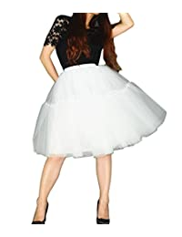 YSJ Women's Layered Tutu Tulle Knee Length A Line Prom Party Skirts