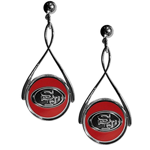 Ring Carved Designer (San Francisco 49ers Tear Drop Earrings)