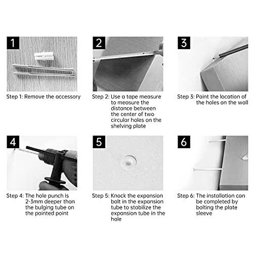 Floating Shelves, Multifunctional Set of 4 Wooden Wall Shelves, Hanging Rustic Shelves for Bathroom/Bedroom/Living Room/Kitchen/Study (Coffee)